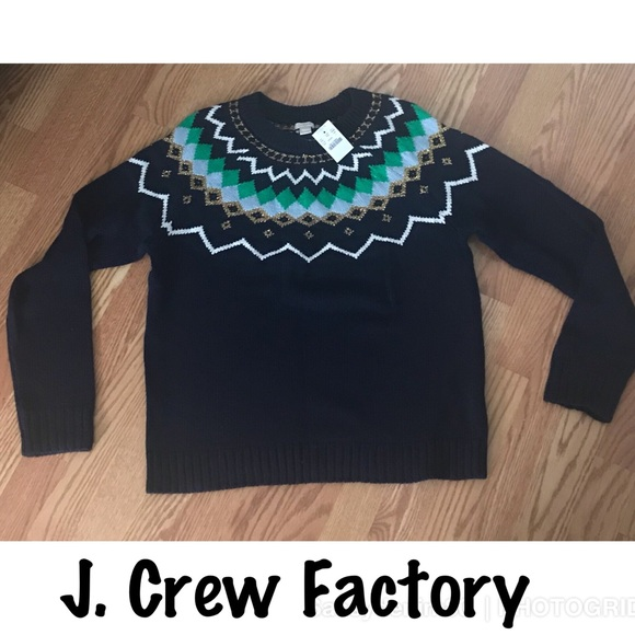 J. Crew Factory - J. Crew Factory Fair Isle Sweater Size Large ...